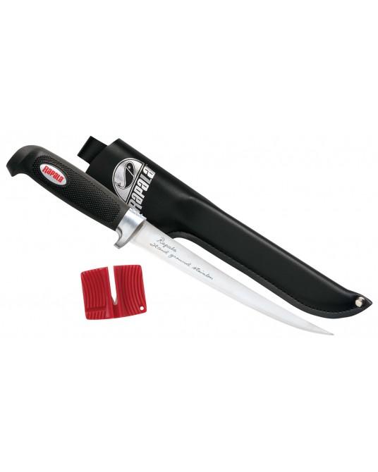 Peilis su galąstuvu Rapala Soft Grip Fillet Knives BP709SH1