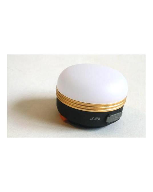 Pakraunamas LED šviestuvas su išorine baterija