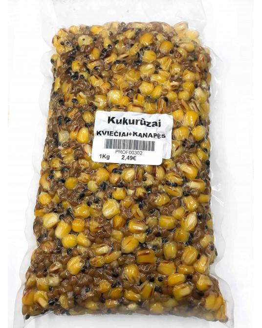 Šutintų kukurūzų, kviečių ir kanapių mixas Professional