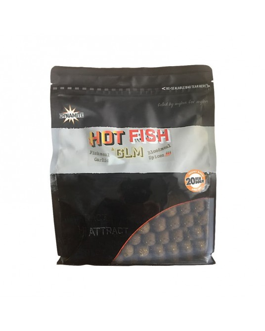 Boiliai Dynamite Baits GLM Hot Fish 20mm