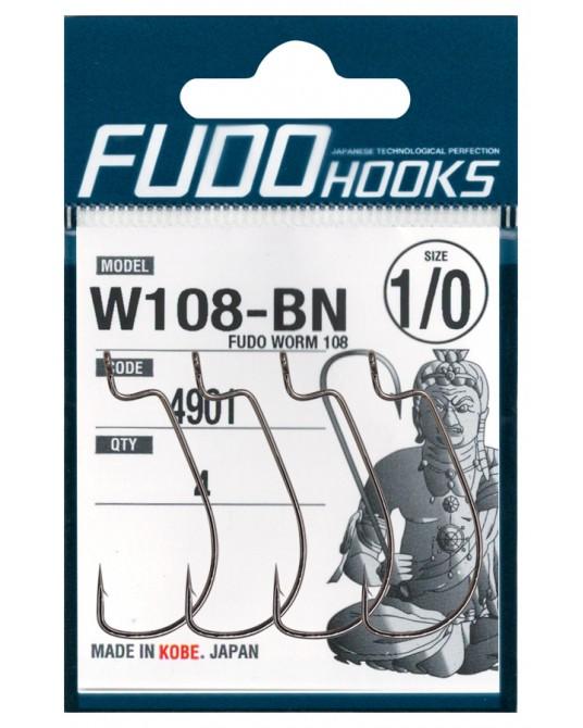 Kabliukai ofsetiniai Fudo Worm W108