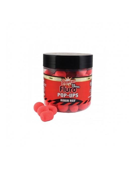 Plaukiantys Boiliai Dynamite Baits Fluoro Pop-Ups Robin Red