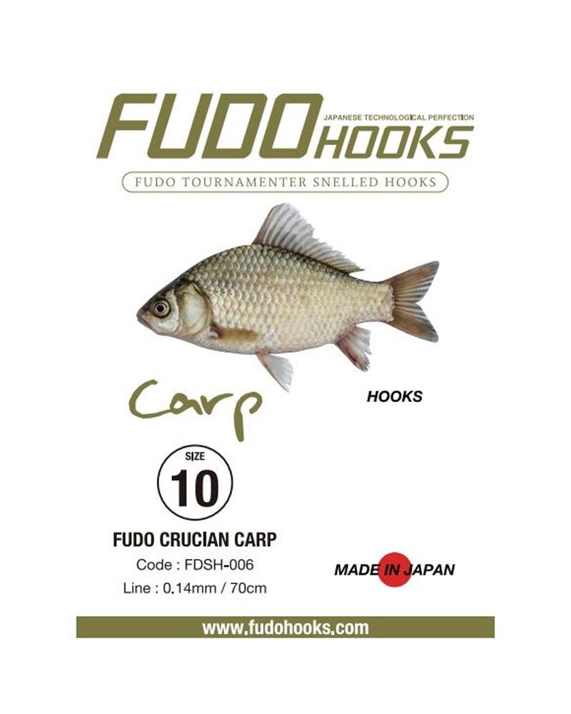 Kabliukai su pavadėliu Fudo Carp